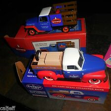 2 LOT COOPER TIRES 1952 CHEVROLET 3100 PICKUP TRUCK BANK & 1953 WILLYS JEEP BOX