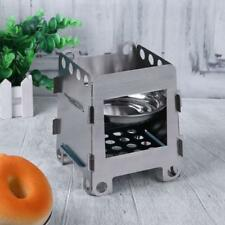 1Pc Outdoor Hiking BBQ Folding Alcohol Stove Stainless Steel Wood Burner Furnace
