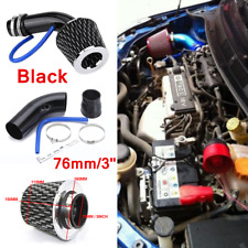 "76mm/3"" Black Alumimum Pipe Cold Air Intake Filter Induction Kit Car Accessories"