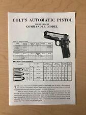 Colt Lightweight Commander brochure 1950s 1960s RARE