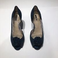 Womens  Size 9.5 M Alex Marie elegant shoes of genuine leather Emerald Suede