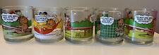 New ListingSet of 5 Vintage Garfield McDonald's Glass Mugs Jim Davis 1978.