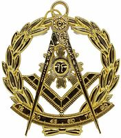Masonic Collar Grand Past Master Jewel Gold Freemason Mason GPM Free Shipping