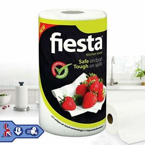 Kitchen Towel Paper Roll 1 / 6 / 12 Fiesta White Paper Rolls Tough on Spills