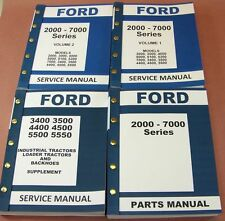 FORD 3400 3500 4400 4500 INDUSTRIAL TRACTOR SERVICE REPAIR SHOP & PARTS MANUALS