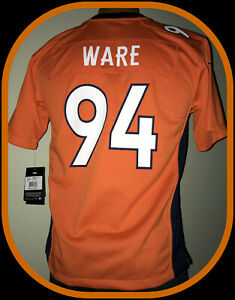 DENVER BRONCOS DEMARCUS WARE NIKE ON FIELD REPLICA JERSEY YOUTH LARGE NEW W TAG