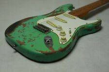 New Favorite Surf Green 100% Handmade Relic ST Electric Guitar Alder Body Aged