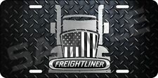 Aluminum Freightliner Diamond Plate Big Rig Semi Truck License Plate Vanity Tag