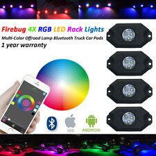 4X RGB LED Rock Lights Multi-Color Offroad Lamp Bluetooth Truck JEEP Car Pods