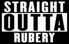 Straight Outta Rubery Fridge Magnet