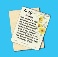 """Sku# 616 /""""Forever In My Heart/"""" Memorial Poem Greeting Card Blank"""