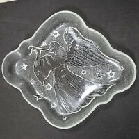 Glass Angel Design Candy Dish