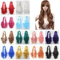 Temperature Fiber Synthetic Curly Wavy Hair Full Wigs Cosplay Costume Party
