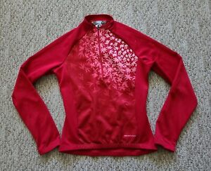 Sugoi Women's Long Sleeve Cycling Jersey Size Small S Color Red 1/2 Zip