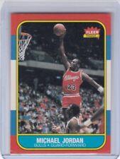 HT: 1986 Fleer Basketball Card #57 Michael Jordan Rookie Chicago Bulls-Original