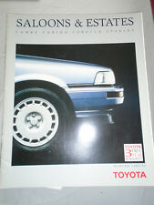 TOYOTA Saloon & Estates brochure inverno 1989/90