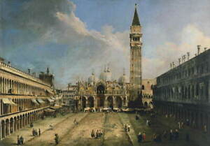 Canaletto The Piazza San Marco in Venice Giclee Canvas Print Poster LARGE SIZE