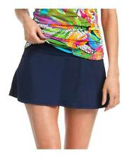 Anne Cole Solid Swim Skirt Size XS NVY Blue Sw2 232