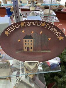 New Decorative Oval Plate - FAITH FAMILY FRIENDS - Unbranded Home Decor