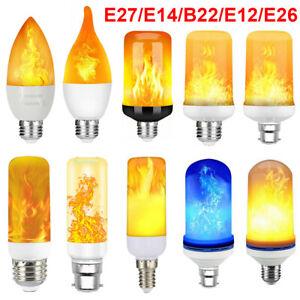 B22 E27 E14 LED Burning Fire Effect Light Flicker Flame Bulb Vintage Decor Lamp