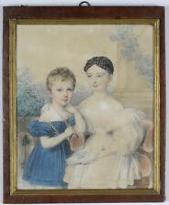 "Johann Nepomuk Ender ""Little brother and sister"", watercolor portrait, 1831"