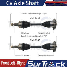 Front X2 Left+Right SurTrack CV Axle Shaft Fits 2014-2018 Silverado 1500 CY19