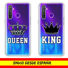 Funda Movil Realme / King Queen Rey Reina Dibujo Transparente X50 / X2 / C3