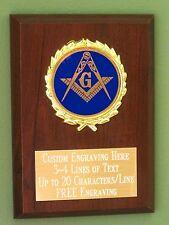 Masonic Lodge/Free Masons Award Plaque 4x6 Trophy FREE engraving