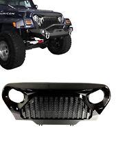 97 06 Jeep Wrangler TJ Front Hood Gloss Black Gladiator Mesh Grill Grille