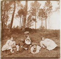 Snapshot Amateur Vita Famille Francia Foto Placca Da Lente Stereo Vintage LE23
