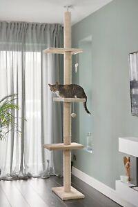 Floor to Ceiling Adjustable Cat Tree Scratch Post Activity Centre Kitten