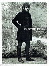 PUBLICITE ADVERTISING 066  2011  G-Star Raw  Vincent Gallo par Anton Corbijn