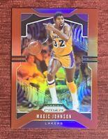 2019-20 Prizm MAGIC JOHNSON #/299 Red Refractor #25 Los Angeles Lakers HOF🔥