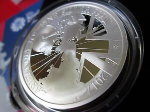 2017 UK Britannia £2 Pound Coin, 1oz 999 Silver Proof, MINT CONDITION