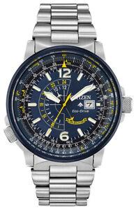 Citizen Eco-Drive Men's Promaster Nighthawk Blue Angels 42mm Watch BJ7006-56L
