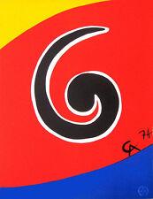Alexander CALDER Braniff Airlines Sky Swirl Original 1974 Lithograph Art