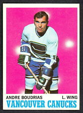 1970 71 TOPPS HOCKEY 121 ANDRE BOUDRIAS NM VANCOUVER CANUCKS CARD FREE SHIP USA