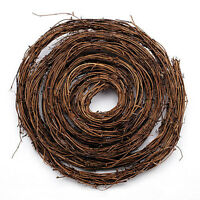 twig garland Natural  measures 1/2 inches thick x 15 feet long.