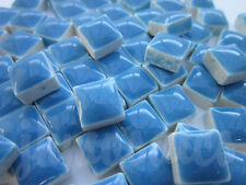 100pcs - 110grams Micro Ceramic Mosaic Tiles Blue TB1