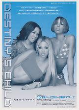 Destiny'S Child (Beyonce) Original 2001 Concert Handbill / Flyer - Japan