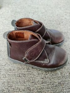 Russell And Bromley Brown Leather Baby/Toddler Boots Size 6 / 23