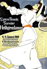 Art Ad Lawn Tennis  Turnier Heiligendamm Travel  Deco   Poster Print