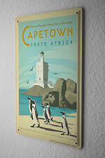 Tin Sign World Tour  Cape Town South Africa Penguins lighthouse beach