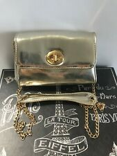 Dumond Lovely Gold Metalic Shouder Bag Used in Great Condition #40009