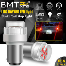 BMTxms LED Brake Stop Tail Light Bulbs Lamps Pure Red 1157 7528 2357 2057 12499