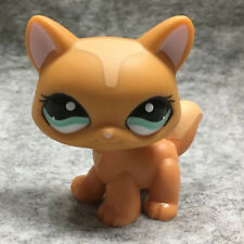 Littlest Pet Shop LPS Collection #1100 Green Eye Orange Kitty Cat Loose Toy