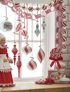 NEW!~RAZ Imports~4' Peppermint Ball Candy Garland~Wreath/Tree/Christmas/Bulb