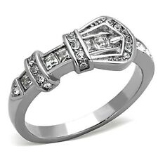 5-10 Engagement Ring Band Wedding 1334 Women's Stainless Steel Buckle Ring Size