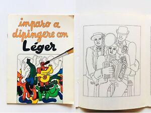 Imparo a dipingere con Léger Museo vivente per bambini Album da colorare Arte