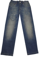 NEW Young Versace RRP £219 Designer Boys Blue Jeans AGE 10 Pants Kids A309